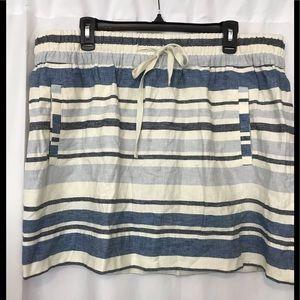 NWT LOFT szXXL linen/cotton blend skirt